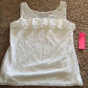 NWT Lilly Pulitzer Janine top sz M in flowing lace